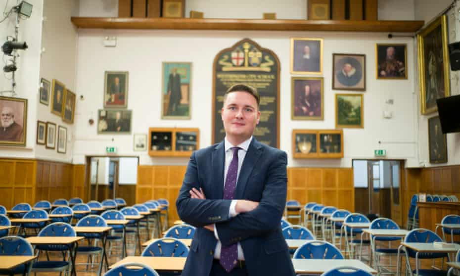 Wes Streeting at his former school, Westminster City.