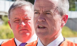 Bill Shorten (right) said he had an 'amicable chat' with Anthony Albanese (left) since Friday, when the shadow transport minister laid out his blueprint for government on Friday.
