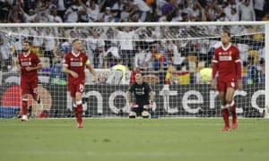 Gareth Bale shoots and it's too hot to handle for Loris Karius who fumbles the ball into net.