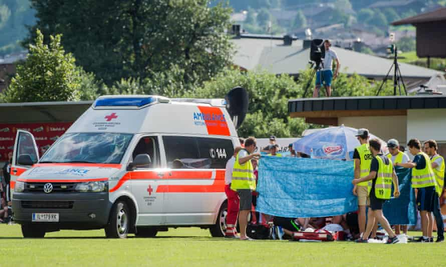 Abdelhak Nouri is being treated after collapsing during the friendly against Werder Bremen.