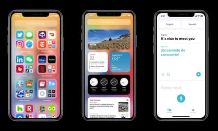 Apple Ios 14 New Features Coming To Ipad And Iphone Apple The Guardian