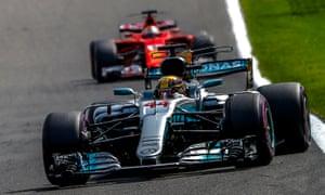 Hamilton keeps ahead of Vettel to win.