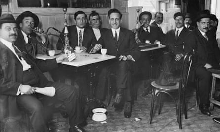 A Syrian restaurant in New York circa 1910.