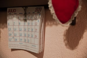 A calendar marks the month of July 2020, a date the family will always remember.