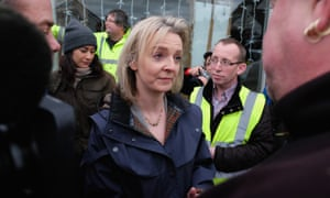 Environment secretary, Liz Truss, visits flood-hit Tadcaster. MPs have raised concerns over levels of private sector investment in flood defences.