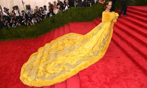 Rihanna and her meme-able dress at the Met Ball in 2015.