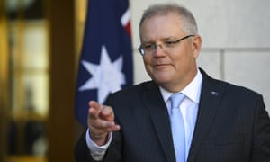 Australian Prime Minister Scott Morrison speaks to the media during a press conference at Parliament House in Canberra, Monday, May 11, 2020. (AAP Image/Lukas Coch) NO ARCHIVING