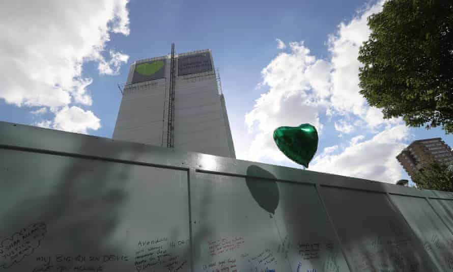 Grenfell memorial wall on the one year anniversary of the fire, June 14, 2018