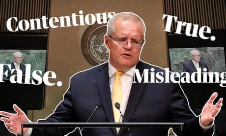 Fact check: Scott Morrison's UN speech about Australia's environmental achievements – video
