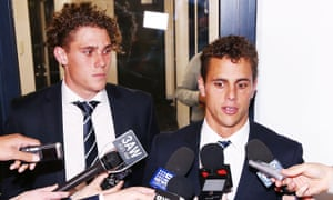 Charlie Curnow (L) and brother Ed Curnow