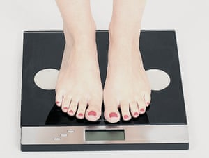 Woman's feet on scales