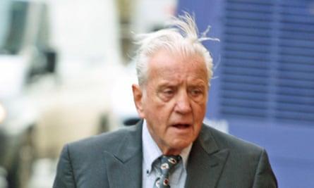 John Hart arriving at court.