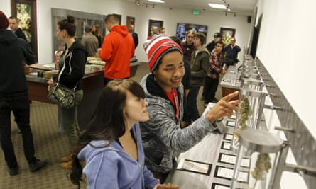 Shoppers in Oregon explore the recreational offerings.