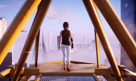 Screengrab showing character Faith in Mirror's Edge: Catalyst game by EA Dice.