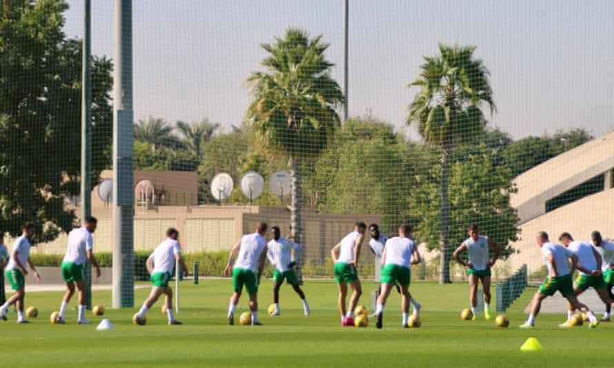 Celtic training last week in Dubai.