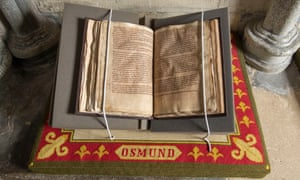 The 800-year-old document from the pope giving permission for Salisbury Cathedral to relocate because its former site was too windy.