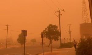 Massive Mildura dust storm leaves Victorian town 'unliveable' amid 40C heat | Environment | The Guardian