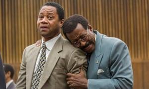 The Verdict ... Cuba Gooding Jr as OJ Simpson and Courtney B Vance as Johnnie Cochran.