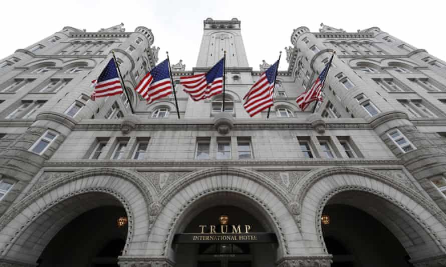 The Trump International Hotel in Washington on 21 December 2016.