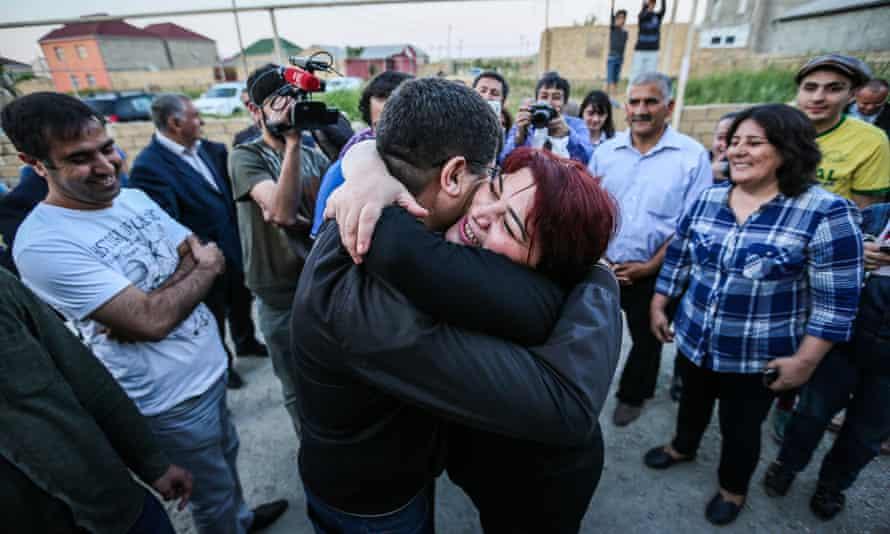 Khadija Ismayilova was released on probation in Baku on Wednesday.
