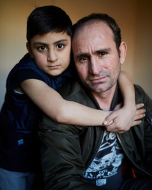 Said Ghullam Norzai and his son Wali Khan Norzai, asylum seekers from Afghanistan now living in Derby.
