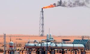 A saudi aramco refinery
