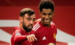 Bruno Fernandes, here with Marcus Rashford, emerged as a de facto leader on the pitch long before he was handed the armband in Paris.