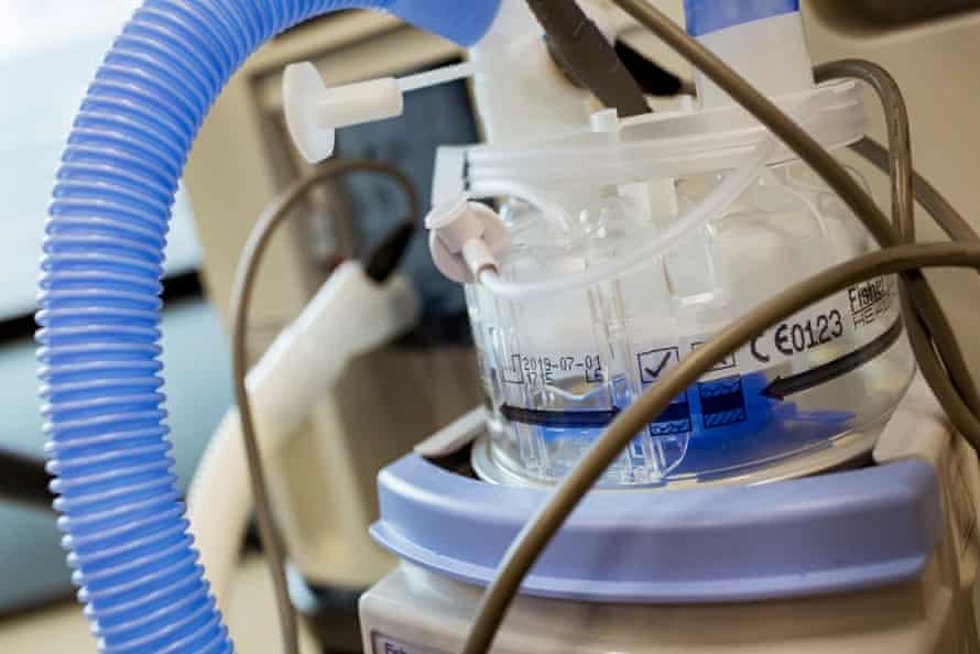 A ventilator in Royal Melbourne hospital.