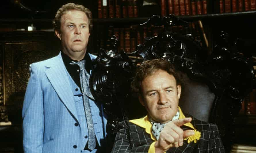 Ned Beatty, left, and Gene Hackman in Superman, 1978.