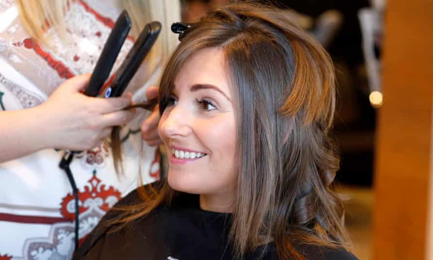 Michelle Hodge, who works at Pursuit Marketing in Glasgow, uses her day off to get a haircut