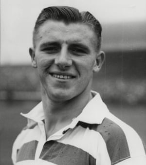 Tommy Docherty in Celtic kit in 1948