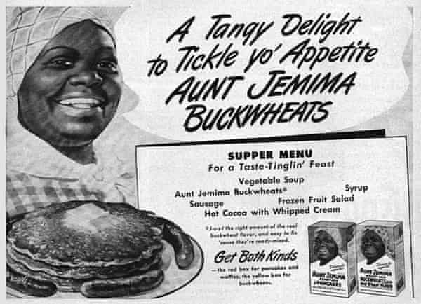 A 1930s print ad for Aunt Jemima.