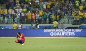 A defeat by Brazil ended Chile's hopes of reaching the World Cup.