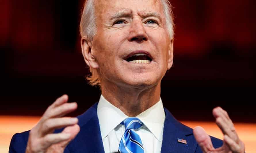 Joe Biden delivers a pre-Thanksgiving speech in Wilmington.