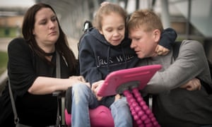 Emma Appleby, Lee Moore and their daughter Teagan who has severe epilepsy and was prescribed a cannabis-based medicine but has not been able to access it on the NHS