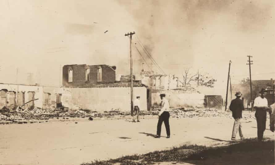 A still from Tulsa: The Fire and the Forgotten, which premieres on PBS on Monday.