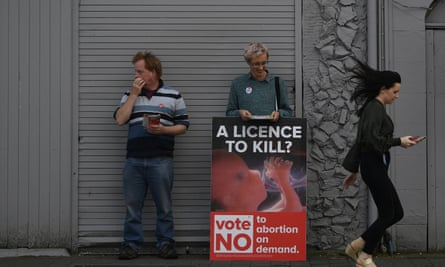 Anti-abortion campaigners in Wicklow on 8 May
