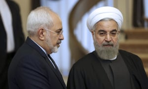 Mohammad Javad Zarif (left) with Iran's president, Hassan Rouhani.