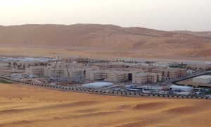 Shaybah in Saudi Arabia, the base for Saudi Aramco's natural gas plant, where production is expanding.