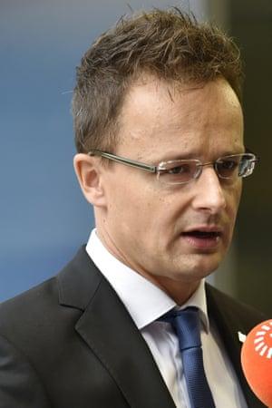 Hungary Foreign Affairs Peter Szijjarto.
