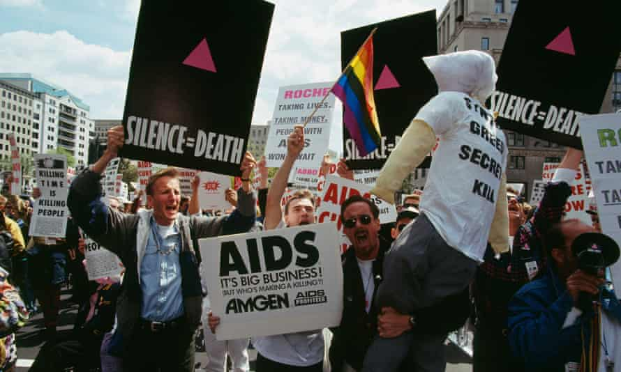 An ACT UP demonstration on Capitol Hill in Washington DC in 1993.