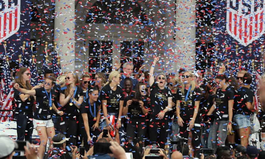 Women are supposed to be quiet about their achievements. The USWNT have been raucously celebrating all week.