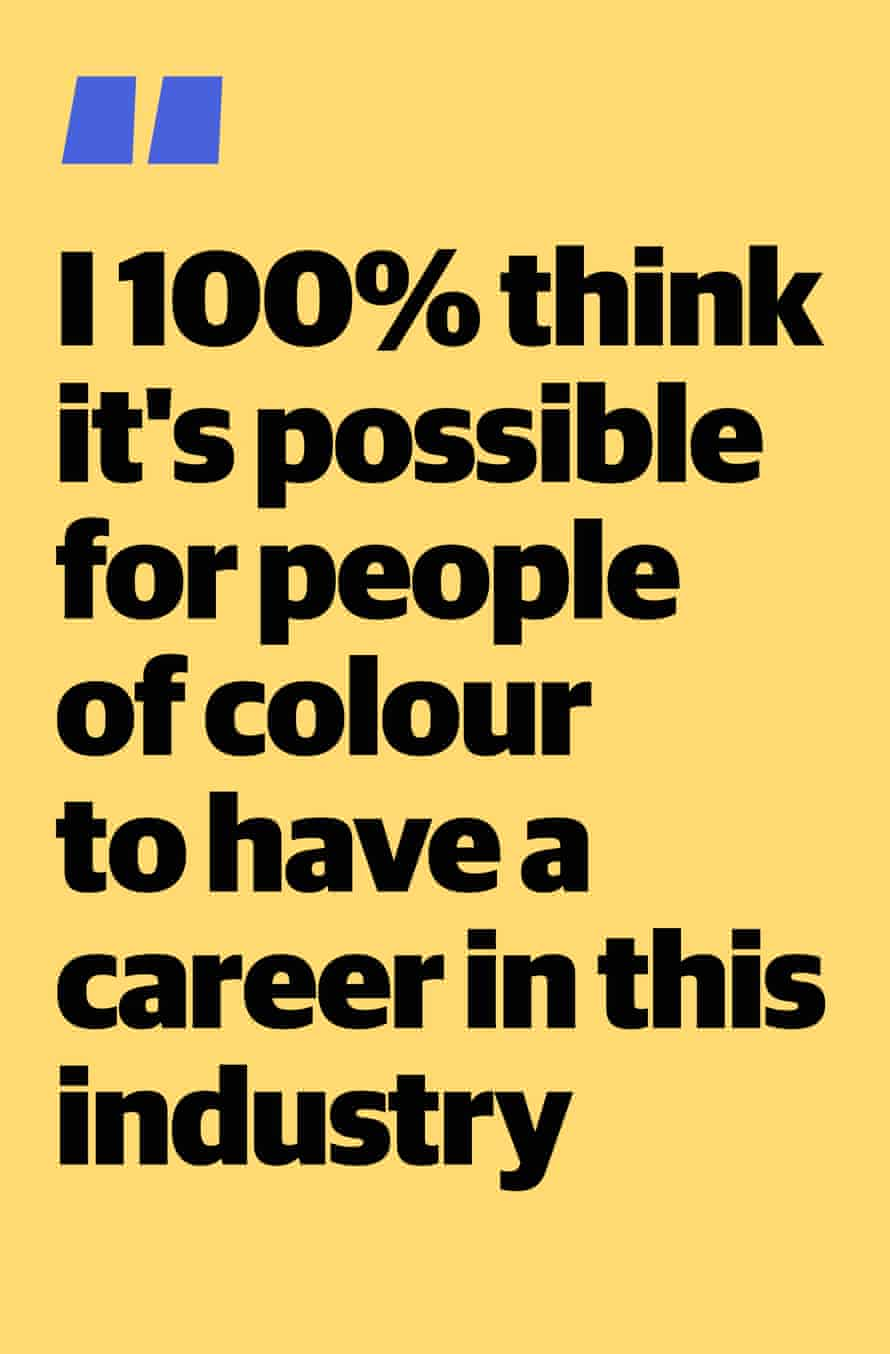 """Quote from Jessica Atkinson: """"I 100% think it's possible for people of colour to have a career in this industry"""""""