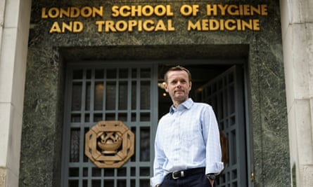 Prof John Edmunds outside the London School of Hygiene and Tropical Medicine.