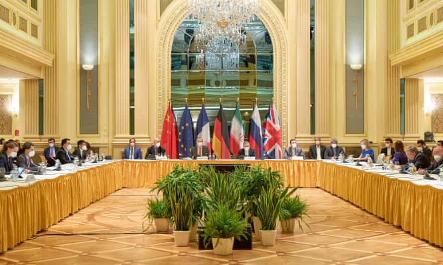 A previous round of discussions in Vienna, Austria on 20 April, 2021. Friday's talks are seen to be a critical stage of the talks and could end without agreement.