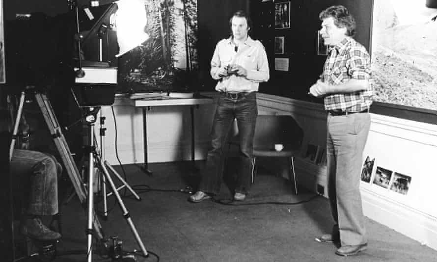 'Journey of discovery' … documentary maker Mike Dibb, centre, with John Berger. A new Whitechapel retrospective traces his influence.