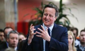 David Cameron at PricewaterhouseCoopers in Birmingham