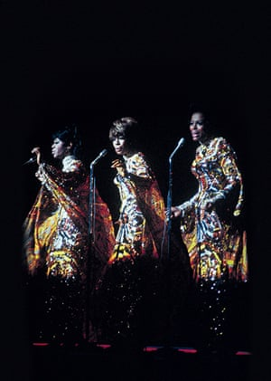 Cindy Birdsong, Mary and Diane at a live performance in 1968.