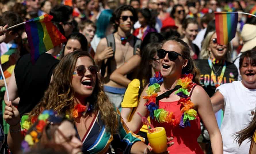 The Pride parade in Dublin