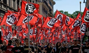 CasaPound supporters